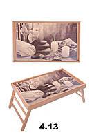 """Поднос-столик на ножках для ноутбука """"Свечи, камни"""", фото 1"""