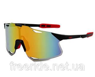 Сонцезахисні спортивні велоокуляри XSY чорно-червоні