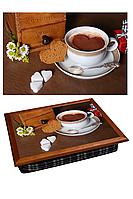 "Поднос на подушке ""Кофе, сахар, сердце"", фото 1"