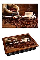 """Поднос на подушке """"Кофе, мешок, совок"""", фото 1"""
