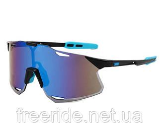 Сонцезахисні спортивні велоокуляри XSY чорно-сині