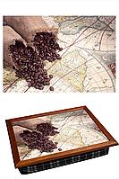 "Поднос на подушке ""Карта два зерна"""