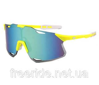 Сонцезахисні спортивні велоокуляри XSY жовті