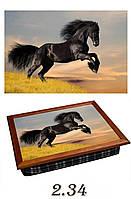 """Поднос на подушке """"Чёрный конь"""", фото 1"""
