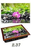 "Поднос на подушке ""СПА- орхидея, вода"", фото 1"