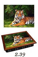 """Поднос на подушке """"Тигр"""", фото 1"""