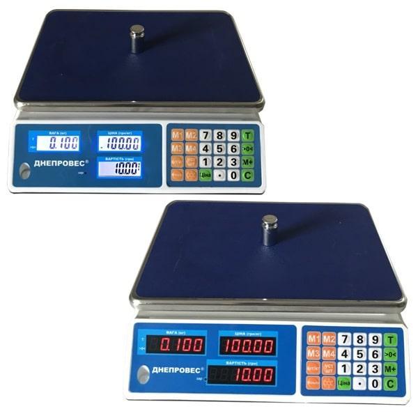Весы торговые Днепровес ВТД-Л1/Л2 (15 кг)