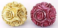 Декоративная свеча Шар из роз 9см, 2 вида BonaDi Q00-119