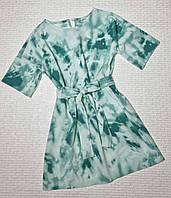 Модное подростковое платье варенка р 134-158 зеленый