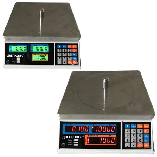 Весы торговые Днепровес ВТД-Т1-СВ/ЖК (15 кг)