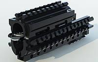 Квадрейл, обвес тактический, Тактическое цевье + накладка на газовую трубку АК-74, АКМ, АКМС, АКС, РПК