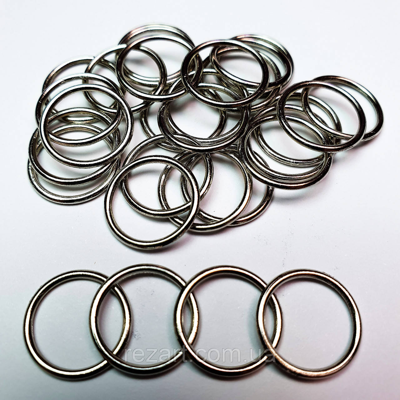 Кільце для бюстгальтера, для бретелей, регулятори 15мм метал чорний нікель (20 шт/уп).