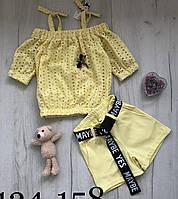 Літній костюм блуза і шорти для дівчинки (134-158р)