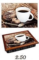 """Поднос на подушке """"Кофе, сахар, ложка"""", фото 1"""