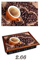 """Поднос на подушке """"Кофе, сердце, зерно новая"""", фото 1"""