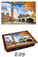 """Поднос на подушке """"Лондон, осень"""", фото 1"""