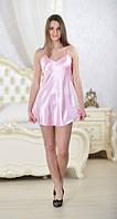 Красивый женский пеньюар атлас, ночная сорочка - бэби долл, неглиже. Хит! Все размеры. Украина., фото 1