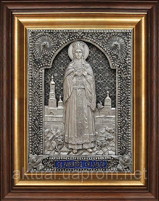 Икона святая княгиня Ольга скань