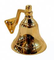 """Колокольчик """"Рында"""" желтый метал Индия  7,5х6х6 см"""
