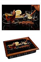 """Поднос на подушке """"Две чашки чая, заварник"""", фото 1"""