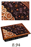 "Поднос на подушке ""Шоколад с лимоном и корицей"", фото 1"