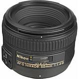 Об'єктив Nikon AF-S 50mm f/1.4 G / б/в / в магазині, фото 2