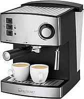 Кофеварка эспрессо рожковая CLATRONIC ES 3643 (850Вт, 15Бар, 1.6л, капуччинатор, Германия)