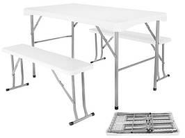 Садовий стіл 113 см і дві лавки SO9998