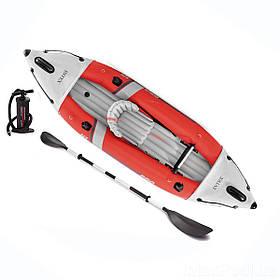 Двомісний каяк надувний Intex 68303 Excursion Pro, 305 х 91 см, (весла, ручний насос)