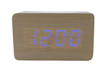 Годинники настільні Wooden Clock - 1294 червоні (1294 Red)