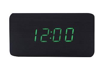 Годинники настільні Wooden Clock - 1295 зелені (1295 Green)