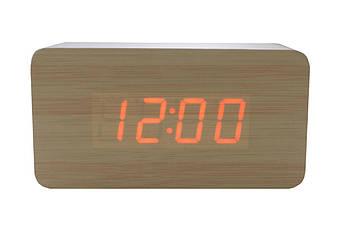 Годинники настільні Wooden Clock - 1295 червоні (1295 Red)
