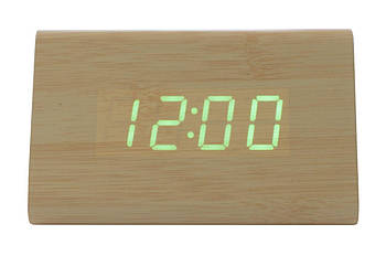 Годинники настільні Wooden Clock - 1300 зелені (1300 Green)