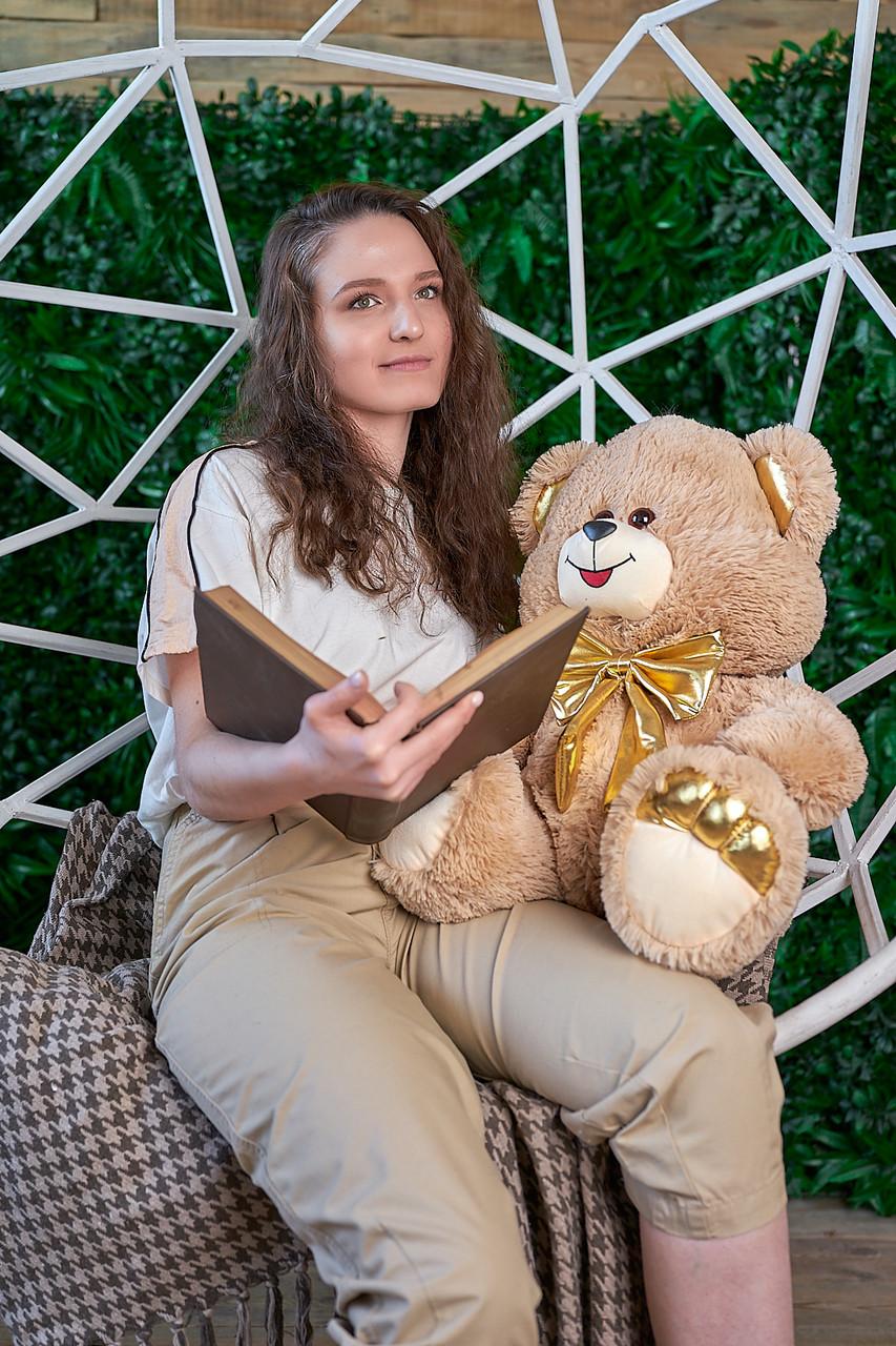 Мягкая игрушка мишка Макс 95 см цвет коричневый | Плюшевый медведь | Плюшевый мишка от производителя