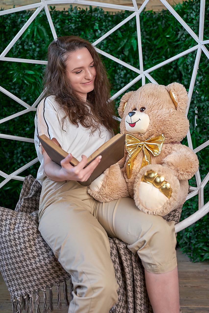 Мягкая игрушка мишка Макс 145 см цвет коричневый | Плюшевый медведь | Плюшевый мишка от производителя