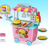 Детский игровой набор Happy Chef детская закусочная с тележкой