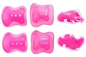 Комплект защиты суставов Xazar - подростковый розовый (PG-6-3)