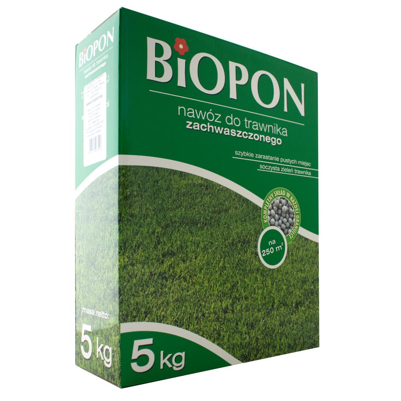 Добриво гранульоване для газонів проти бур'янів 5 кг, BIOPON