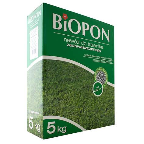 Добриво гранульоване для газонів проти бур'янів 5 кг, BIOPON, фото 2