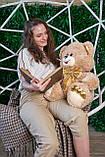Мишка Макс 95 см цвет персиковый | Плюшевый медведь | Плюшевый мишка от производителя, фото 4