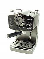 Кофеварка эспрессо рожковая Raven EER001G (1100Вт, 15Бар, капуччинатор, Польша)