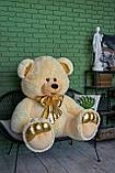 Плюшевый мишка Макс 180 см цвет персиковый   Плюшевый медведь   Мягкая игрушка мишка от производителя, фото 2