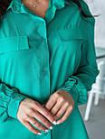 Жіноче плаття з довгим рукавом на гудзиках, фото 6