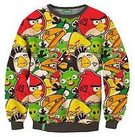 """Свитшот с рисунком 3D """"Angry Birds"""""""