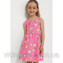 Платье сарафан Фрукты H&M на девочку 2-4 года