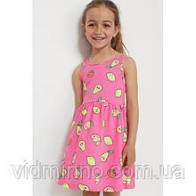 Платье сарафан Фрукты H&M на девочку 4-6 лет
