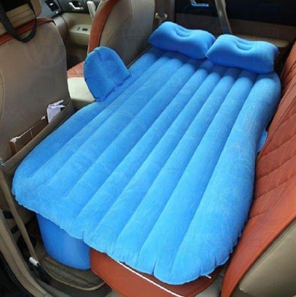 Надувной матрас в машину на заднее сиденье с насосом
