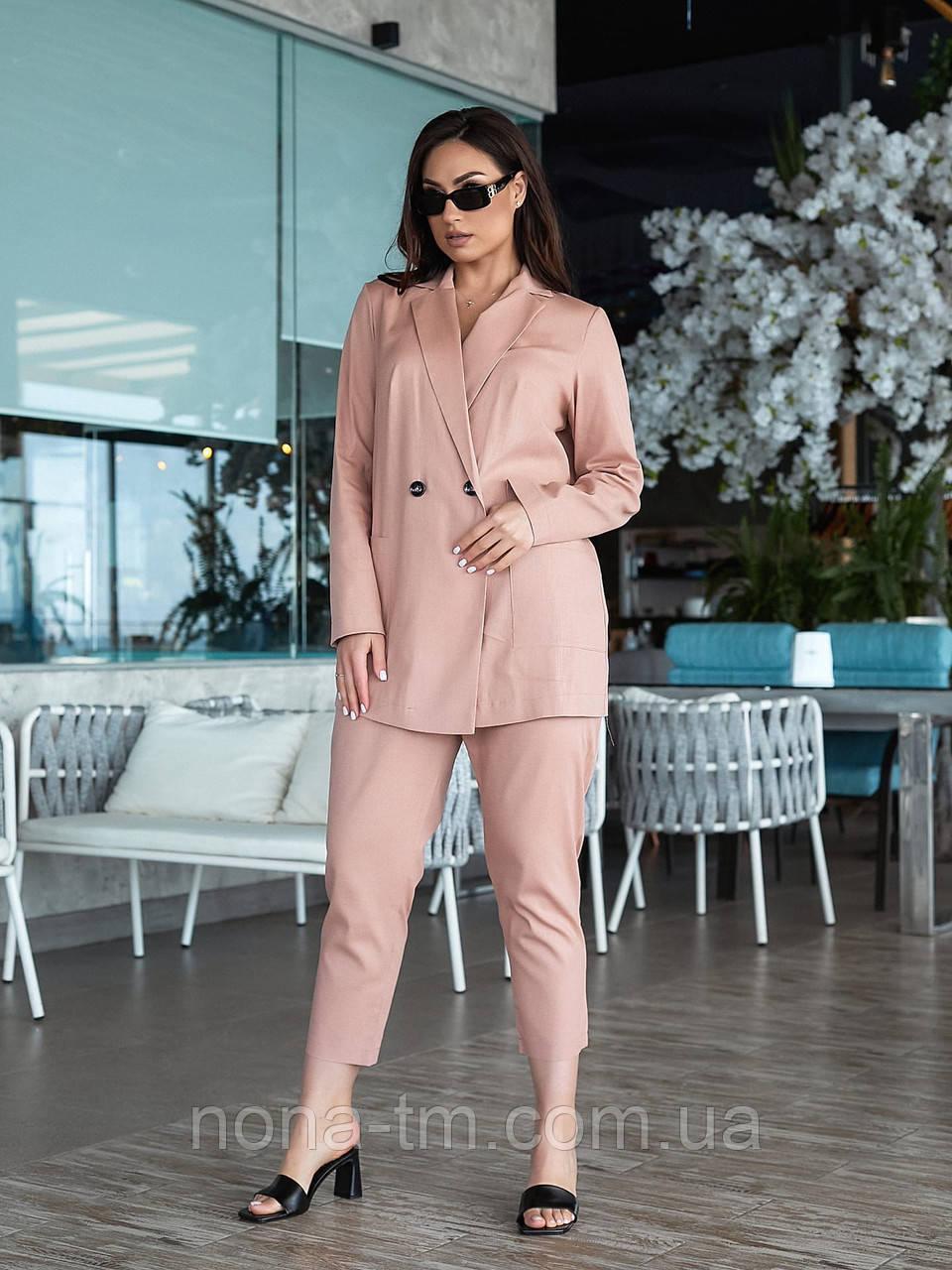 Жіночий костюм двійка з брюками і піджаком