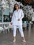 Жіночий костюм двійка з брюками і піджаком, фото 3