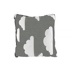 Дитяча бавовняна подушка Lesko AYBB-002 Квадрат у хмарка 30*30см в ліжечко новонародженим